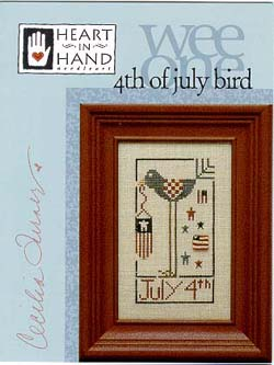 Heart in Hand Needleart - Wee One - 4th of July Bird