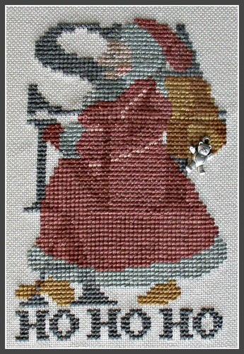 Hinzeit - Santa Ho Ho Ho - Cross Stitch Pattern with Charm