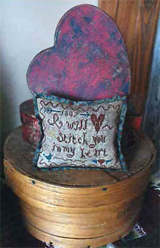 Heartstring Samplery - I Will Stitch You in My Heart - Cross Stitch Pattern