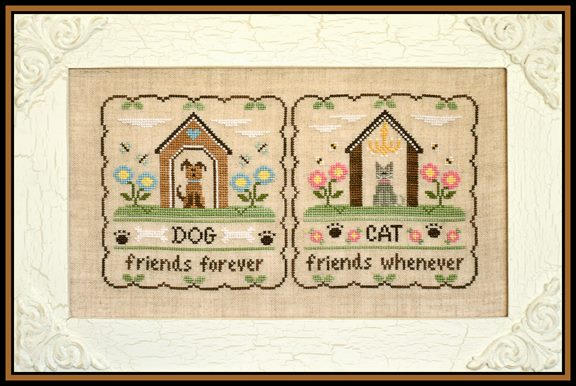 Country Cottage Needleworks - Fury Friends - Cross Stitch Pattern
