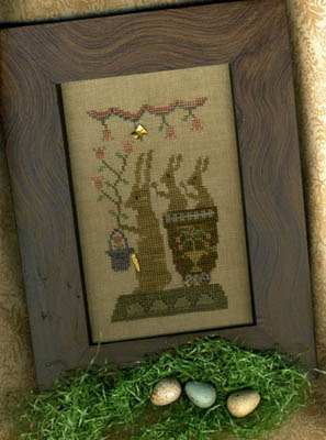 Homespun Elegance - Country Spirits Collection - Delivering Spring Blossoms  Cross Stitch Pattern