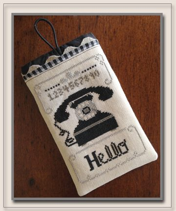 Little House Needleworks - Hello Phone Case-Little House Needleworks - Hello Phone Case, cell phone cover, mobile phone case,