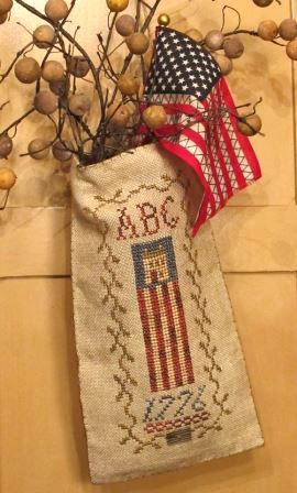 Homespun Elegance - Country Spirits Collection - Liberty House-Homespun Elegance - Country Spirits Collection - Liberty House, patriotic, american flag, hanging pouch, 1776,
