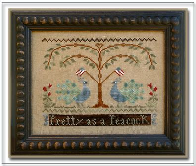 Little House Needleworks - Pretty as a Peacock-Little House Needleworks - Pretty as a Peacock, patriotic, birds, american,