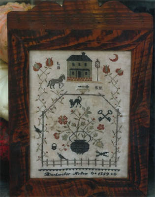 Stacy Nash Primitives - Blackwater Hollow Sampler-Stacy Nash Primitives - Blackwater Hollow Sampler, country, Halloween, farm, horse, moon, primitive, cross stitch