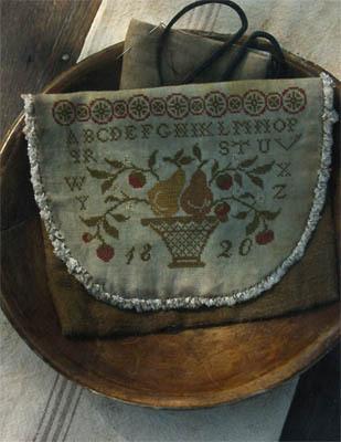 Stacy Nash Primitives - Pears & Strawberries Sampler Sewing Bag