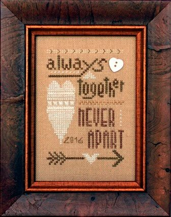 Heart in Hand Needleart - 2016 Collector's Heart - Cross Stitch Kit-Heart in Hand Needleart - 2016 Collectors Heart - Cross Stitch Kit, love, Valentines Day, hearts, marriage,