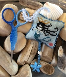 Needle Bling Designs  - Mermaid Fob - Limited Edition Release-Needle Bling Designs - Mermaid Fob - Limited Edition Release, mermaid, ocean, angel, sea, scissor fob, cross stitch