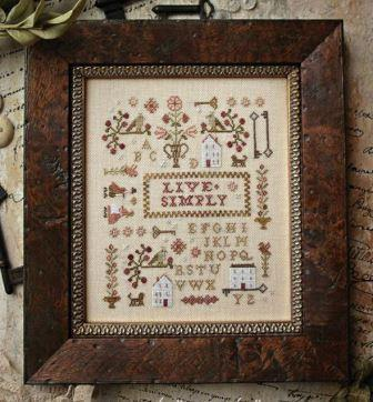 With Thy Needle & Thread - Tiny Work Samplers - Live Simply - Part 1-With Thy Needle  Thread - Tiny Work Samplers, Live Simply, houses, sampler, series,