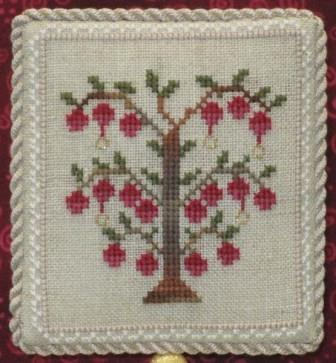 Historic Handworkes - The 12 Sampler Days of Christmas - Part 05 of 12 - Five Golde Rings