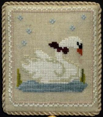 Historic Handworkes - The 12 Sampler Days of Christmas - Part 07 of 12 - Seven Swans A Swimming