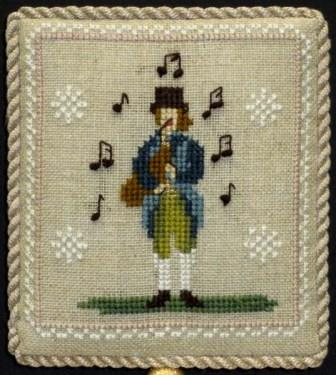 Historic Handworkes - The 12 Sampler Days of Christmas - Part 11 of 12 - Eleven Pipers Piping