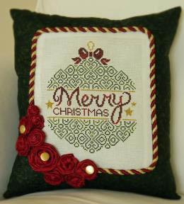 Cherry Hill Stitchery - Merry Christmas - Cross Stitch Pattern
