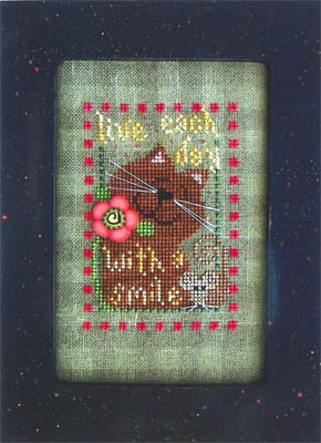 Val's Stuff - Live Each Day with a Smile - Cross Stitch Pattern