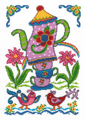 Imaginating - Summer Birdhouse - Cross Stitch Chart