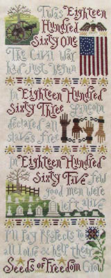 Silver Creek Samplers - Seeds Of Freedom - Cross Stitch Pattern