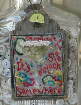 Dames Of The Needle - Margarita Tag - Cross Stitch Pattern