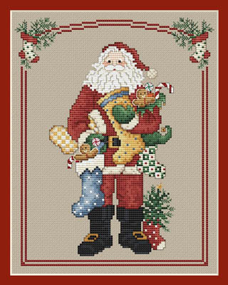 Sue Hillis Designs - Annual Santa - Stocking Santa - Cross Stitch Pattern