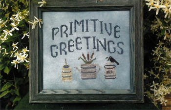 Poppy Kreations - Primitive Greetings - Cross Stitch Pattern