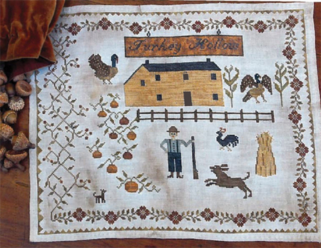 Stacy Nash Primitives - Houses of Berry\'s Chapel Road - Turkey Hollow Farm-Stacy Nash Primitives, Houses of Berrys Chapel Road, Turkey Hollow Farm, primitive, reproductions, turkey farm, pumpkins, rooster, Thanksgiving,
