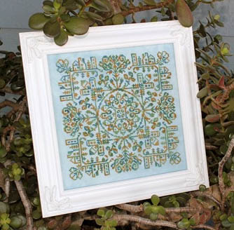 Ink Circles - Village Home Series - #3 - Village Square - Cross Stitch Pattern