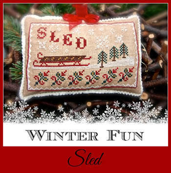 Lindsay Lane Designs - Winter Fun - Sled - Cross Stitch Pattern