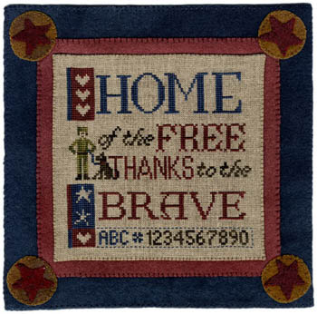 Erica Michaels Needleart Designs - Thanks to the Brave
