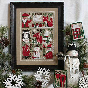 Prairie Schooler - Evergreen-Prairie Schooler - Evergreen, Christmas, Santa Claus, ornaments, snowman, fox, cross stitch