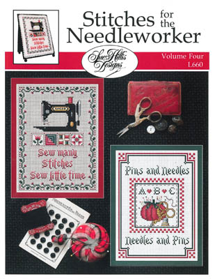 Sue Hillis Designs - Stitches for the Needleworker - Volume 4-Sue Hillis Designs - Stitches for the Needleworker - Volume 4, Singer sewing machine, pincushion, sewing, cross stitch