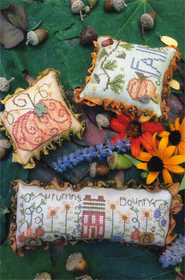 Shepherd's Bush - Autumn Trifles-Shepherds Bush - Autumn Trifles, Fall, pumpkins, autumn garden, pincushions, cross stitch