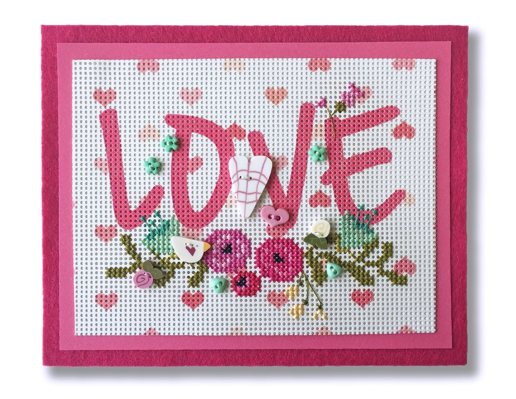 Just Another Button Company - Hearts & Flowers Box - Limited Edition-Just Another Button Company - Hearts  Flowers Box, Valentines Day, hearts, love, pink, buttons, cross stitch