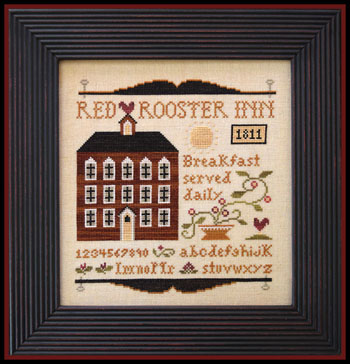 Little House Needleworks - Red Rooster Inn-Little House Needleworks - Red Rooster Inn, sampler, hotel, bb, cross stitch