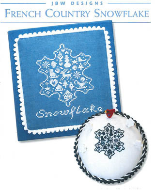 JBW Designs - French Country Snowflake-JBW Designs - French Country Snowflake, snow, flakes, ornament, cross stitch