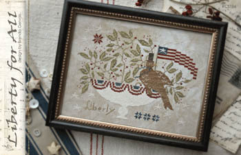 With Thy Needle & Thread - Liberty for All-With Thy Needle  Thread - Liberty for All, American flag, bird, America, USA, patriotic, cross stitch