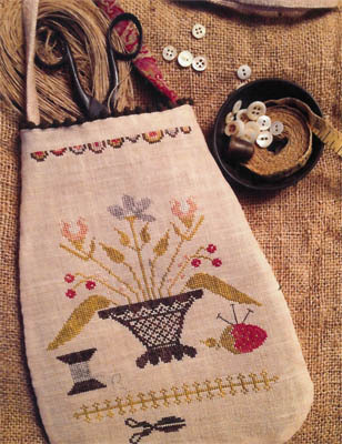 Stacy Nash Primitives - Simple Pleasures Sewing Pouch-Stacy Nash Primitives - Simple Pleasures Sewing Pouch,