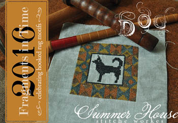 Summer House Stitche Workes - Fragments In Time 2016 -  Dog-Summer House Stitche Workes - Fragments In Time 2016, Dog, animals, puppy, cross stitch
