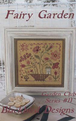 Blackbird Designs - Garden Club Series Part 11 - Fairy Garden-Blackbird Designs - Garden Club Series Part 11 - Fairy Garden, flowers, cross stitch