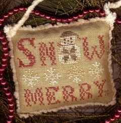 Homespun Elegance - 2016 Snowman Ornament - Snow Merry II-Homespun Elegance - 2016 Snowman Ornament - Snow Merry II, snowman, Christmas, Christmas tree ornament, cross stitch