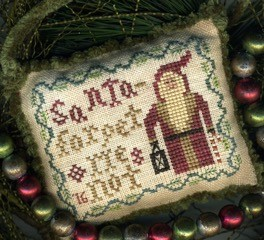 Homespun Elegance - 2016 Santa Ornament - Forget Me Not-Homespun Elegance - 2016 Santa Ornament - Forget Me Not, Santa Claus, ornament, Christmas, Christmas tree ornament, cross stitch