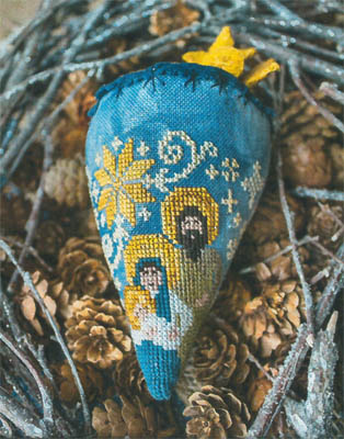 Erica Michaels Needleart Designs - Nativity Berry - Linen Berry