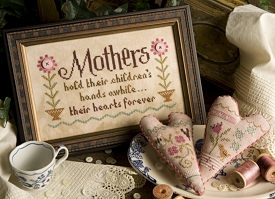 Lizzie Kate - Mothers - Chartpak-Lizzie Kate, Mothers,mothers day, love, children. flowers, just another button co,  Cross Stitch Chartpak
