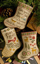 Lizzie Kate - Flora McSample 2014 Stockings - Cross Stitch Patterns-Lizzie Kate, Flora McSample's 2014 Stockings, Christmas, Christmas stockings, Santa Claus, Cross Stitch Patterns