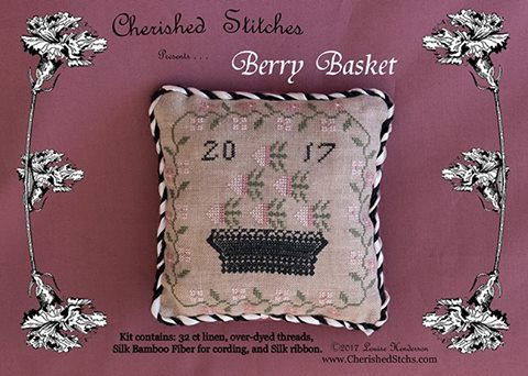 Cherished Stitches - Berry Basket - Limited Edition Kit-Cherished Stitches - Berry Basket - Limited Edition Kit, berries, Nashville, flowers, cross stitch