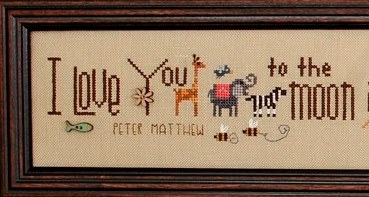 Heart in Hand Needleart - Moon and Back-Heart in Hand Needleart - Moon and Back, love, marriage, samler, devotion, cross stitch