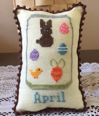 Needle Bling Designs - What's in Your Jar - Part 04 - April-Needle Bling Designs, Whats in Your Jar, Part 04, April, spring, Easter, bunny, Easter Eggs, flowers, cross stitch