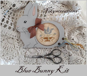 Nikyscreations - Blue Bunny - Limited Edition-Nikyscreations - Blu Bunny - Limited Edition, thread keep, cross stitch