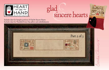 Heart in Hand Needleart - Glad & Sincere Hearts - Part 2-Heart in Hand Needleart - Glad  Sincere Hearts, Part 2, family, love, cross stitch