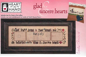 Heart in Hand Needleart - Glad & Sincere Hearts - Part 3