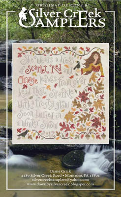 Silver Creek Samplers - Olivia Ochreleiph-Silver Creek Samplers - Olivia Ochreleiph, fall, oak trees, lady, leaves, cross stitch