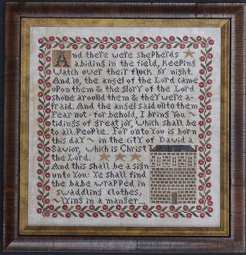 La-D-Da - Tidings of Great Joy-La-D-Da - Tidings of Great Joy, Jesus, proclamation, Christmas, cross stitch,
